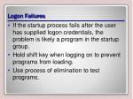 logon failures