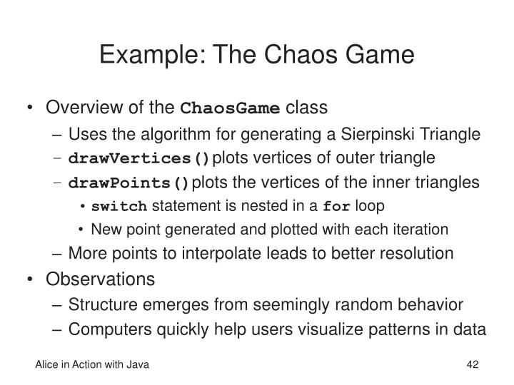 Example: The Chaos Game