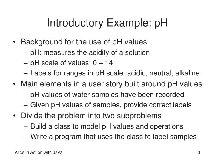 Introductory Example: pH