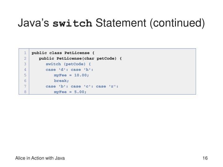 Java's