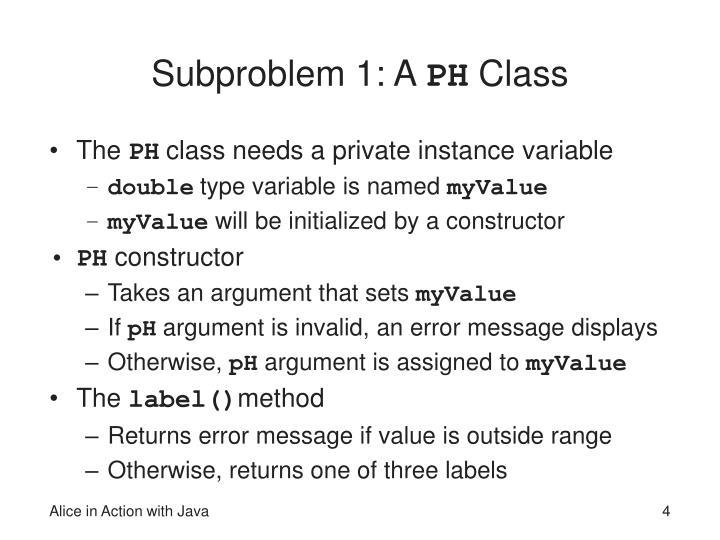 Subproblem 1: A