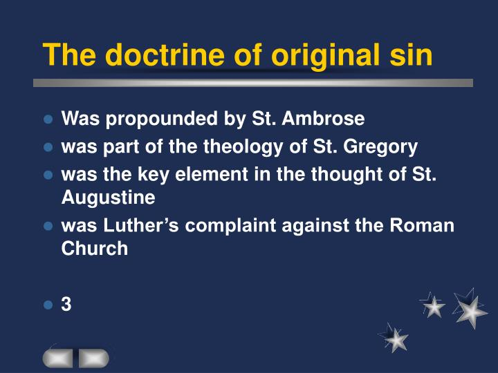 The doctrine of original sin