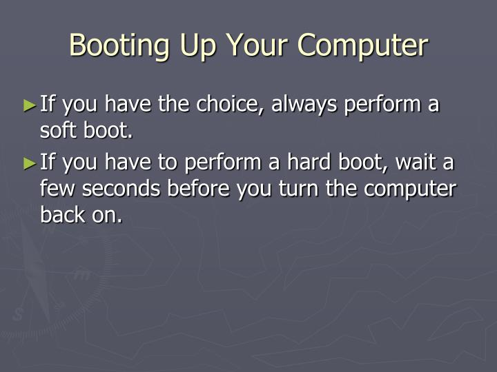 Booting Up Your Computer