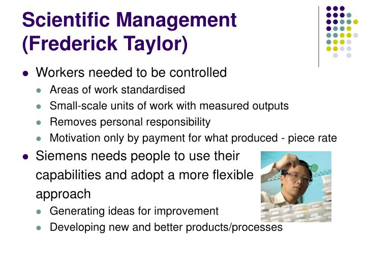 scientific management developed by frederic taylor The core ideas of scientific management were developed by frederick winslow taylor in the 1880s and 1890s, and were first published in his book shop management and.