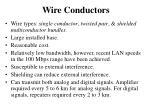 wire conductors