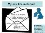 my new life in britain