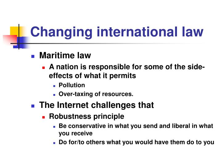 Changing international law
