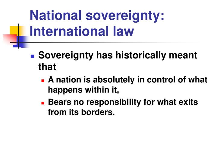 National sovereignty: