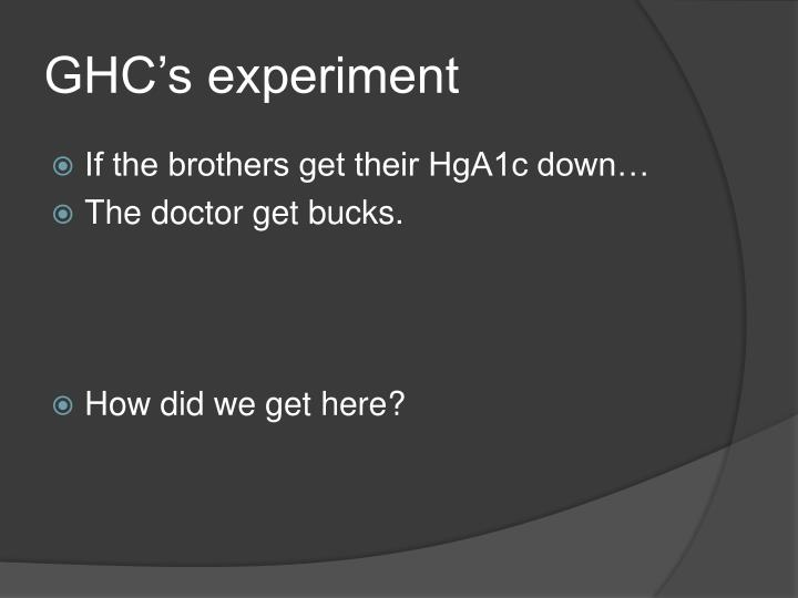 GHC's experiment