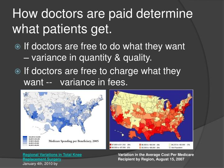 How doctors are paid determine what patients get.