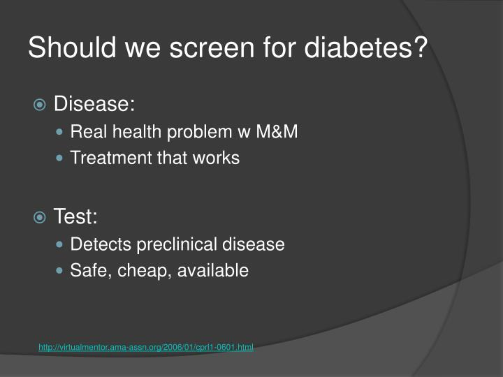 Should we screen for diabetes?