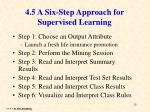 4 5 a six step approach for supervised learning