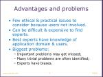 advantages and problems
