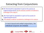 extracting from conjunctions