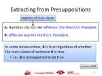 extracting from presuppositions
