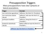 presupposition triggers