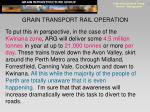 grain transport rail operation1