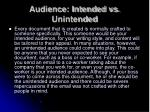 audience intended vs unintended
