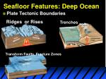 seafloor features deep ocean