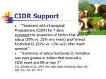 cidr support