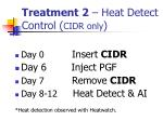 treatment 2 heat detect control cidr only