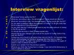 interview vragenlijst