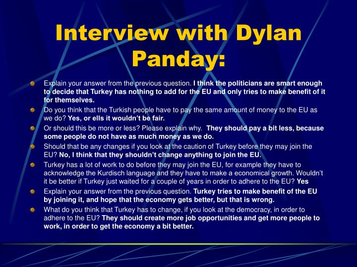 Interview with Dylan Panday: