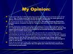 my opinion1