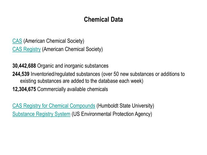 Chemical Data