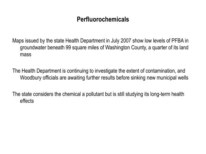 Perfluorochemicals