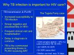 why tb infection is important for hiv care