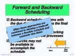 forward and backward scheduling2