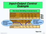 input output control example1