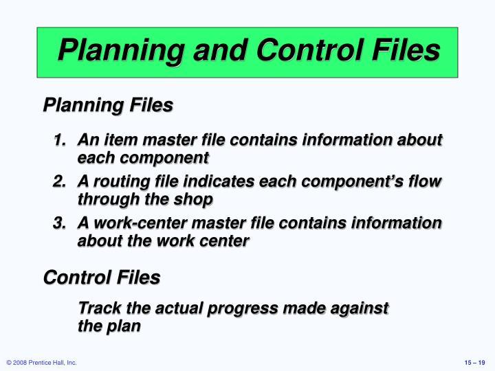 Planning Files