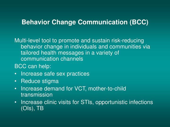 Behavior Change Communication (BCC)