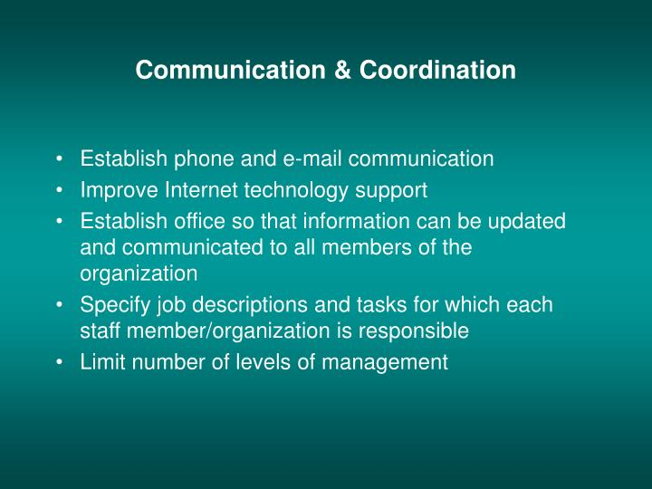 Communication & Coordination