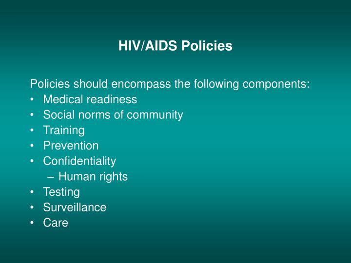 HIV/AIDS Policies