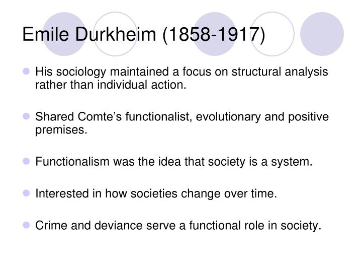 emile durkheim social change theory essay Abstract emile durkheim is pre-eminently known for instituting a social theory  which views sociology as a natural science subject to empirical study his  seminal.