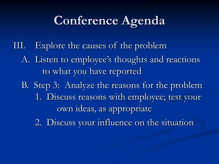 Conference Agenda