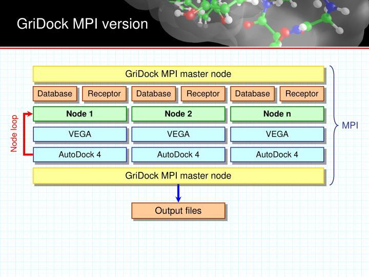 GriDock MPI master node