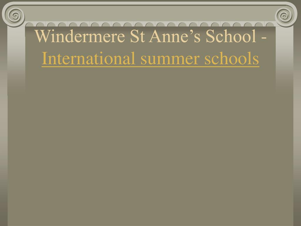 Windermere St Anne's School -
