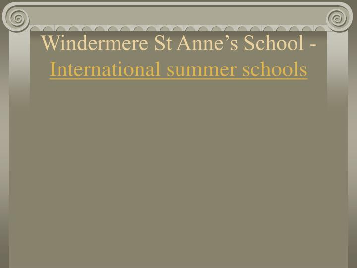 Windermere st anne s school international summer schools l.jpg