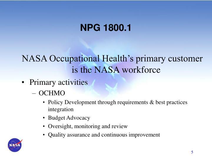 NPG 1800.1