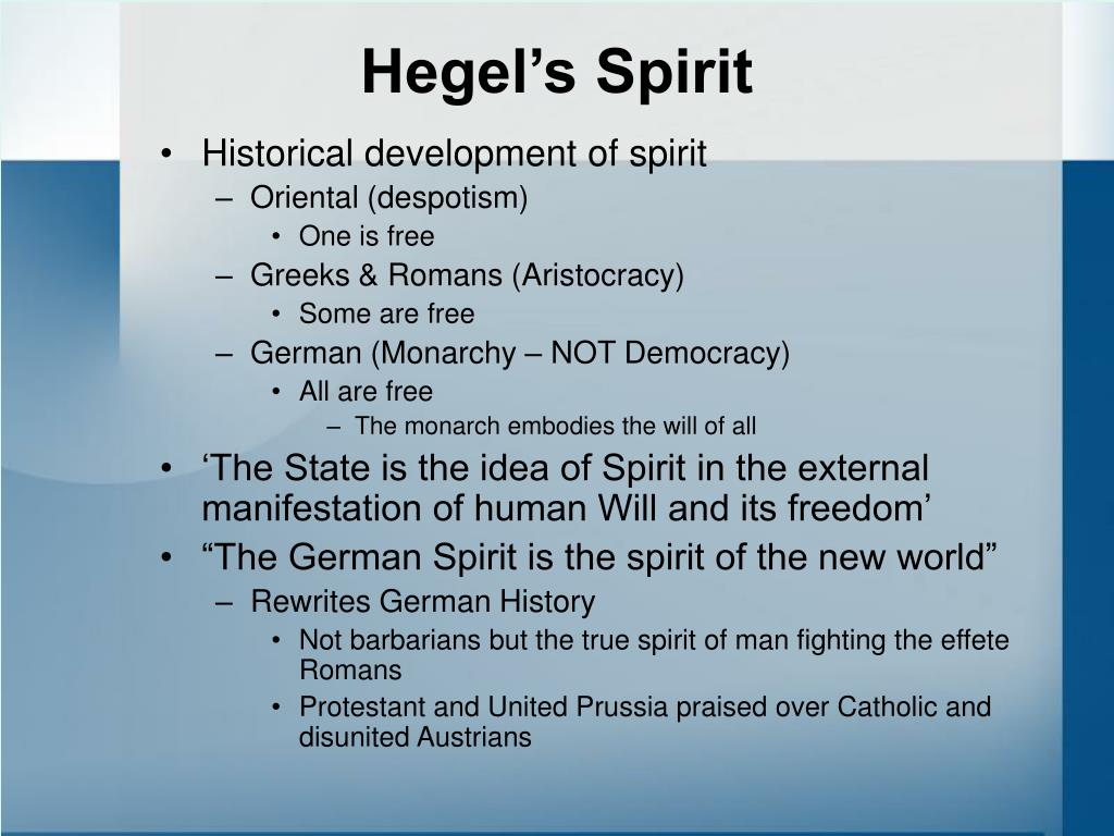 Hegel's Spirit