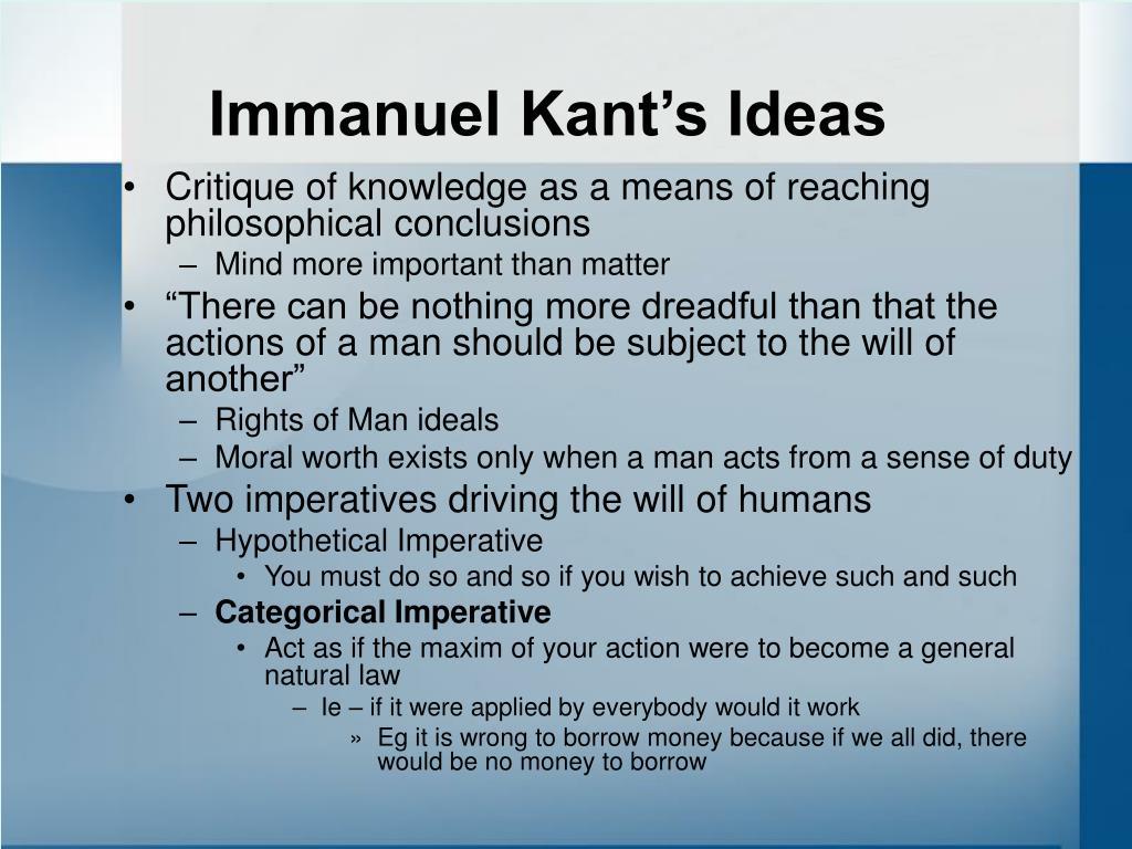 Immanuel Kant's Ideas