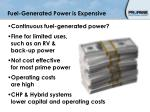fuel generated power is expensive