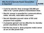 why rural remote power generation is important