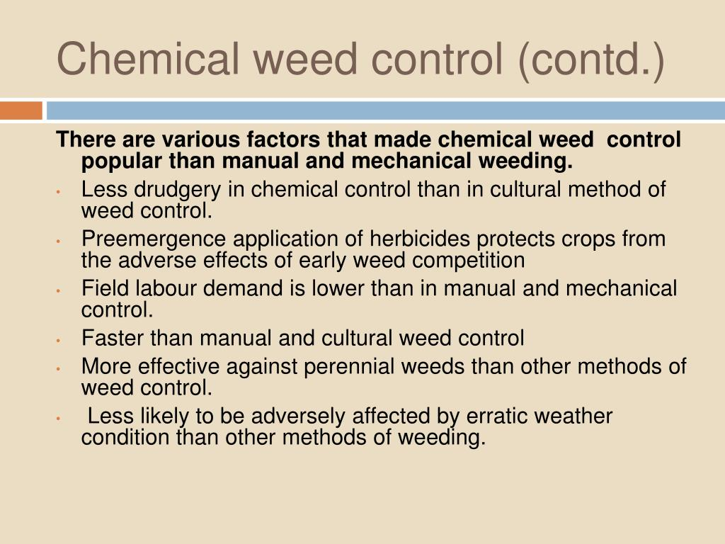 Chemical weed control (contd.)