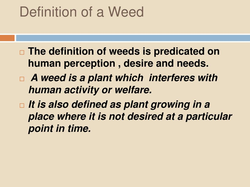 Definition of a Weed
