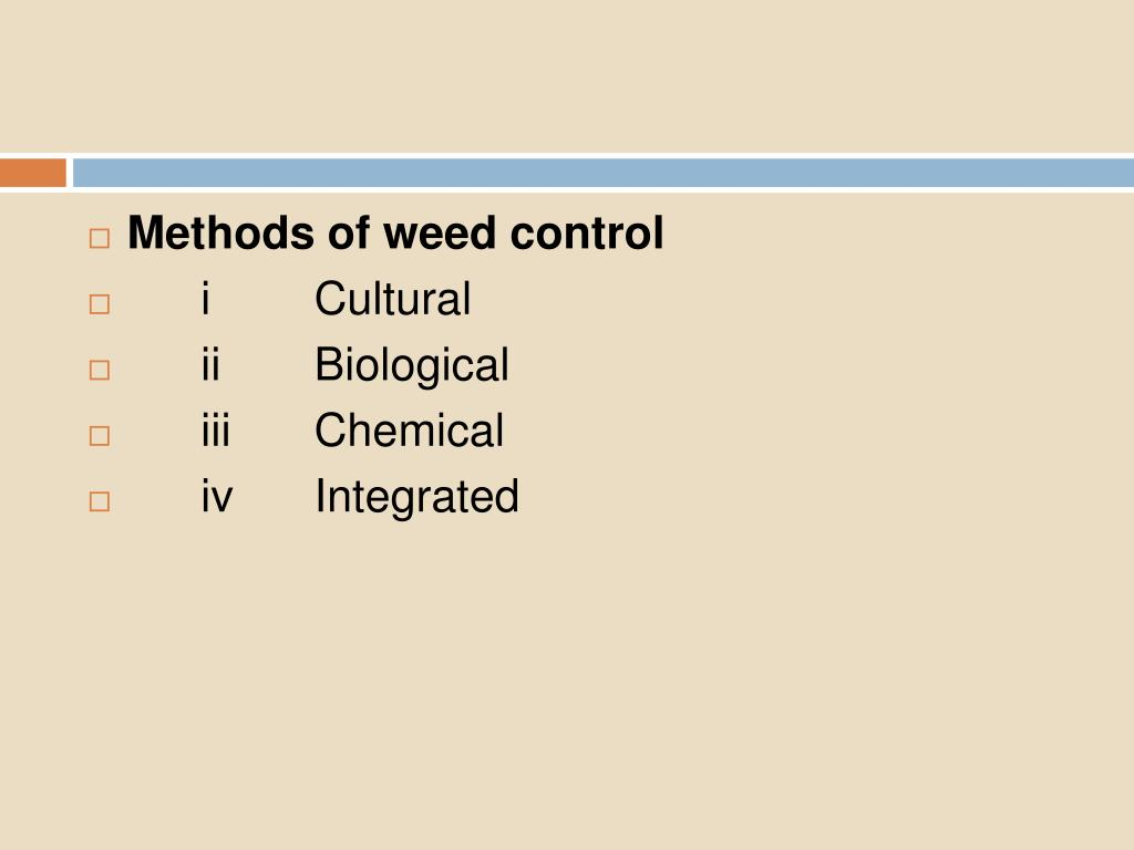 Methods of weed control